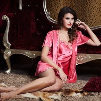 High Grade Sexy Lace Home Pajamas Sets Robes Shorts Camisoles