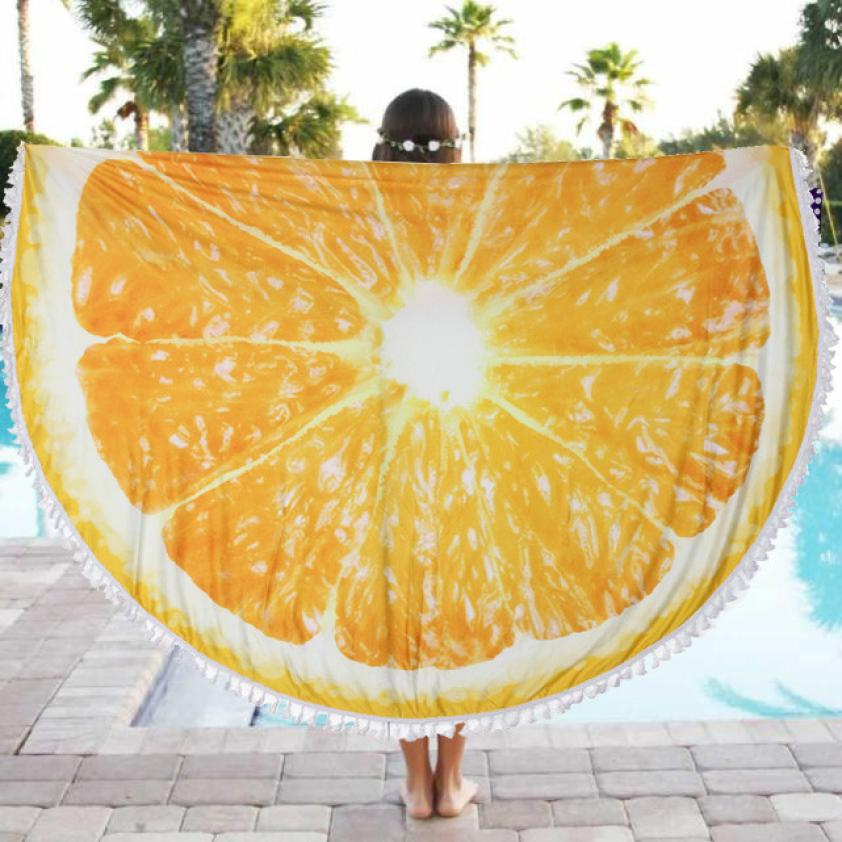 JA 30 Durable Beach MatHot Selling Fast Shipping Round Beach Pool Home Shower Towel Blanket Table Cloth Yoga Mat#1