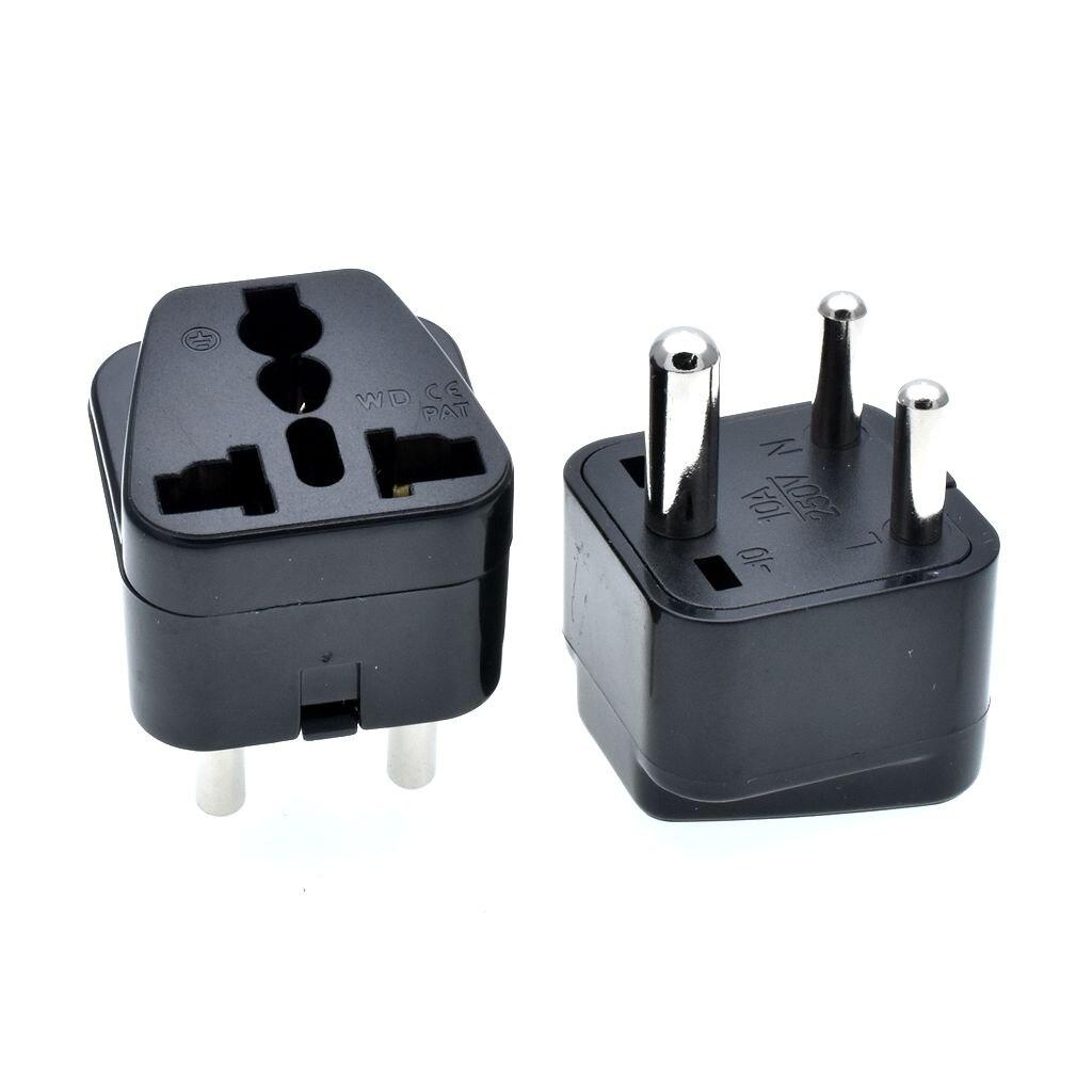 10PC White/ Black S.Africa Converter AU UK US EU To Small South Africa Plug AC Power Outlet Adapter Socket Nepal India Sri Lanka