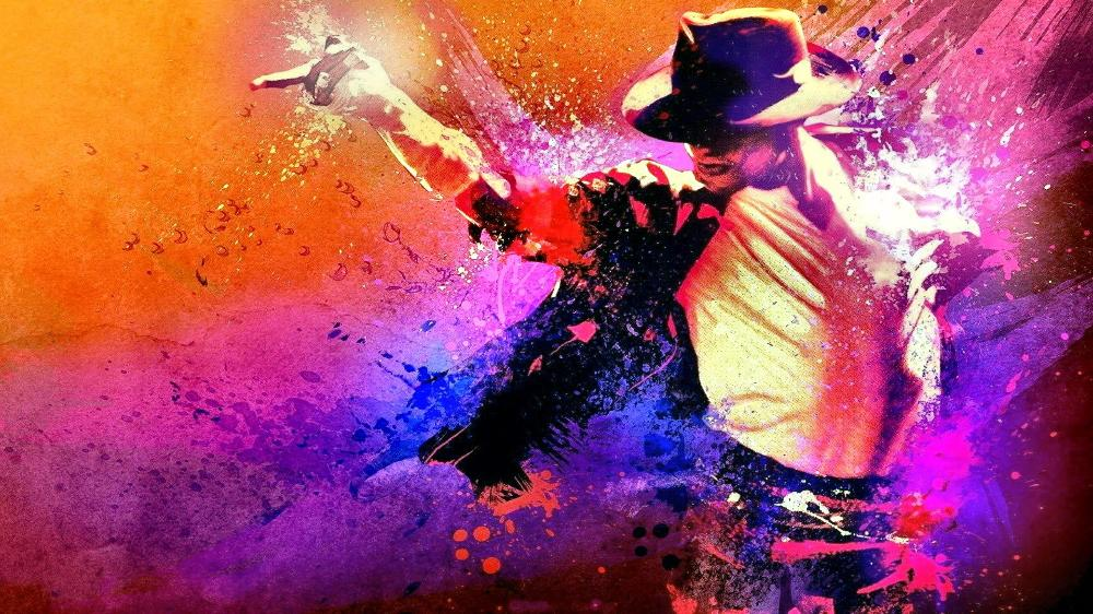 Michael Jackson Dancing retrato ilustraciones Sala hogar pared arte ...