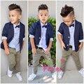 Gentleman Style Boys Blazers Kids Jacket+Shirt+Pants 3pcs/Set Boys Clothing For Weddings Children Clothing 2-8T Boys Blazer Z388