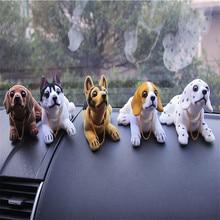 Автомобиль орнамент встряхивания собака кивнув собака автомобиль укладки милые Пупс Собака Кукла качает головой для украшения интерьера автомобиля