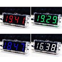 Elecrow EC1621 DS3231 Reloj Electrónico y Cáscara de Acrílico Kit de BRICOLAJE Fabricante de Estudiante Regalo Mágico de Color Rojo Amarillo