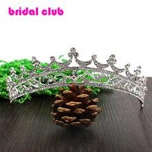 Горный хрусталь кристалл короны невеста аксессуары для волос свадебные диадемы для продажи театрализованное коронки руководитель ювелирные украшения для волос