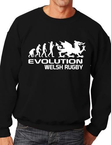 volution Of Welsh Funny Sweatshirt Jumper Unisex Birthday Gift More Size and Color E232 in Hoodies amp Sweatshirts from Men 39 s Clothing