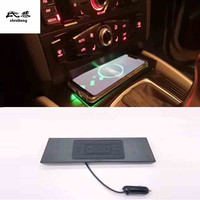 10W QI wireless charging phone charger fast charging plate panel phone holder for 2013 2017 AUDI Q5 car accessories
