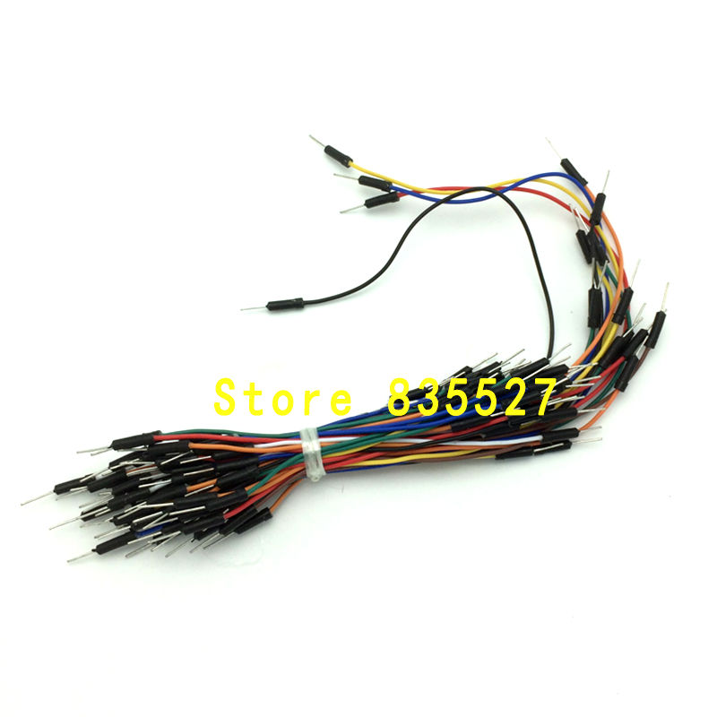 65pcs/sets Male Flexible Breadboard Jumper Cable Wires For Arduino Bread Board