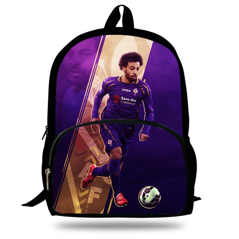 New Mohamed Salah Footballer Print Laptop Backpack Large Teenager For Girls Boys School Backpack Animals Travel Backbag Mochila