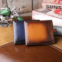 Люксовый бренд телячьей кожи мужская makore кошельки бизнес компактный кошельки высокое качество человек держатели карт повседневные мужски