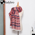 Ladybro Women Scarf Winter Warm Stripe Foulard Femme High Quality Brand Designer Scarf Female 2016 Fashion Wrap Shawl Lady Stole