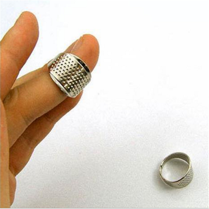 5 pcs costura Finger Protector Sewing Thimbles Adjustable Ring Thimble Quilting Tools Sewing Handworking DIY Tools