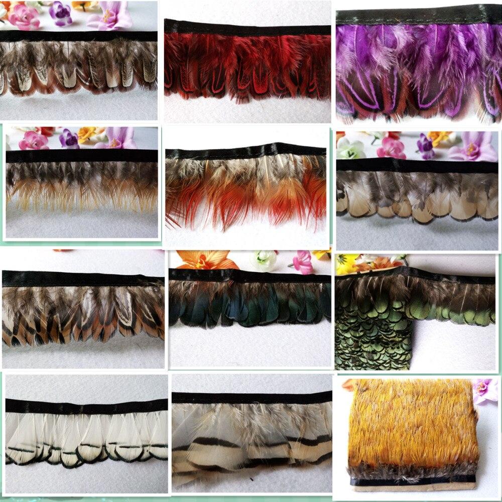 ¡nuevo! Cinturón de tela de plumas de faisán de 5 metros de largo, - Artes, artesanía y costura