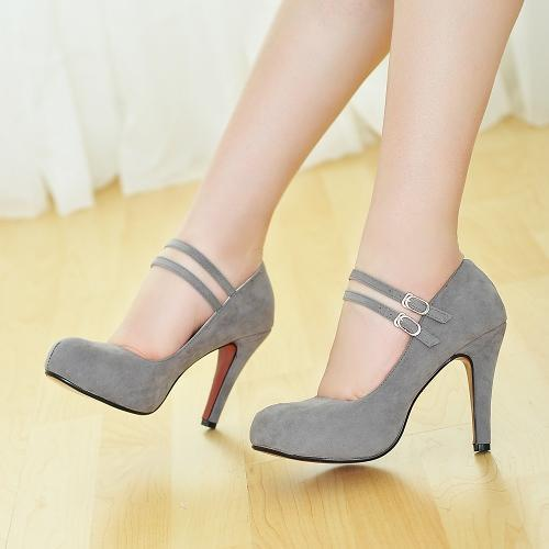 d54f8f0d17e1 Hot Selling Mary Jane Red Bottom High Heels Women Shoes Fashion Ankle Strap  Thin Heels Women Pumps Ladies Elegant Wedding Shoes-in Women s Pumps from  Shoes ...