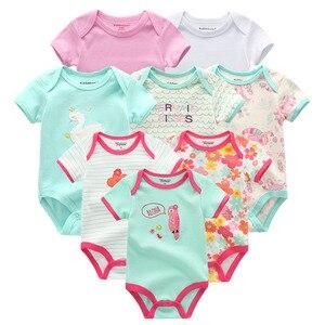 Image 5 - 8 Pçs/lote summer manga curta baby boy bodysuit macacão de bebê menino definir ropa bebe roupas de bebê menino