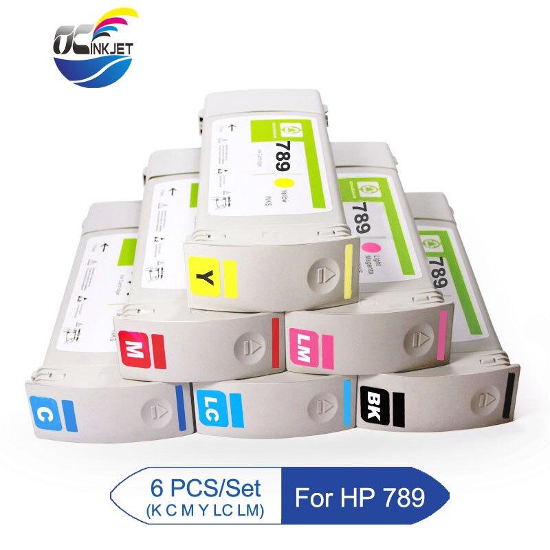 6 PCS/Set  For HP 789 Remanufactured Ink Cartridge With Latex Ink For HP Latex L25500 Printer For HP 789 Latex Ink Ink Cartridges     - title=
