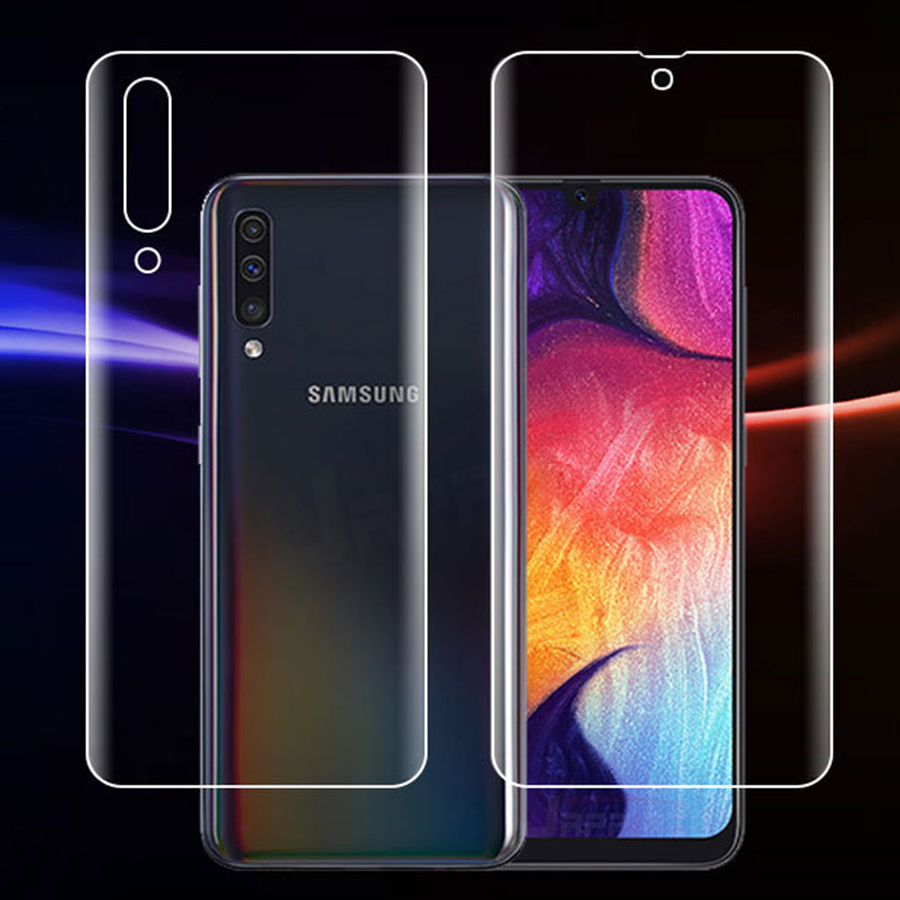 Front + Back 3D Full Cover Screen Protector TPU Film For Samsung Galaxy A50 A30 A10 Soft Clear Hydrogel Film For Samsung M20 M10