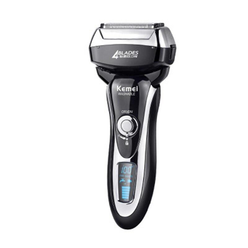 Rasoirs électriques masculins avec affichage LCD tondeuse à barbe Rechargeable professionnelle à chargement rapide rasoir homme