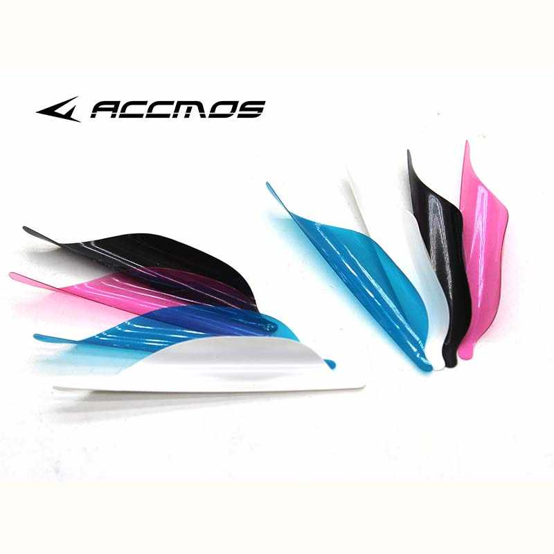 50pcs 2019 New Archery Spin Vanes 1.56 1.75 2 inch Spiral Feather Right Wing DIY  Arrow Archery With Tape  Arrow Accessories