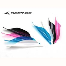 50pcs 2019 New Archery Spin Vanes 1.56 1.75 2 inch Spiral Feather Right Wing DIY Arrow Archery With Tape Arrow Accessories(China)