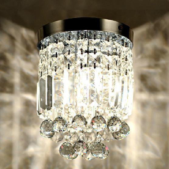 Simple modern crystal ceiling lamps, aisle lights K9 entrance hall bedroom lamps lighting white