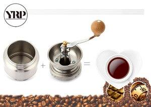 Image 4 - YRP paslanmaz çelik manuel kahve baharat öğütücü öğütme değirmeni el aracı ev değirmeni freze makinesi kahve aksesuarları