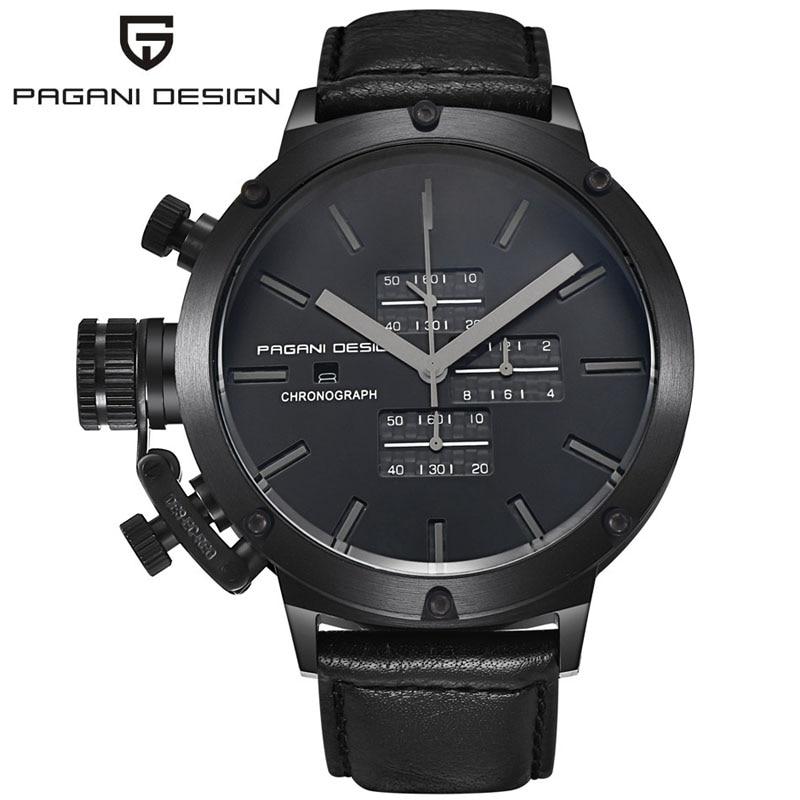 ФОТО Quartz-Watch Men Luxury Brand PAGANI DESIGN Unique Innovative Sport Watches Multifunction Dive Clock Men Relogio Masculino 2016