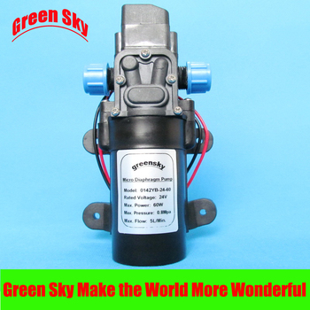 DC 24V 60W self-priming booster diaphragm high pressure water pump dc 24v 80w 360l h return valve type self priming booster micro diaphragm water pump