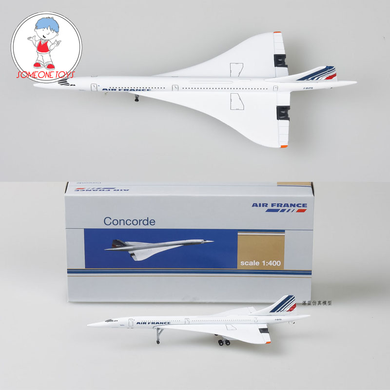 1/400 Concorde Air France Airplane Model 1976-2003 Airliner Alloy Diecast Kids Collection Air Plane Model Toys Gift image