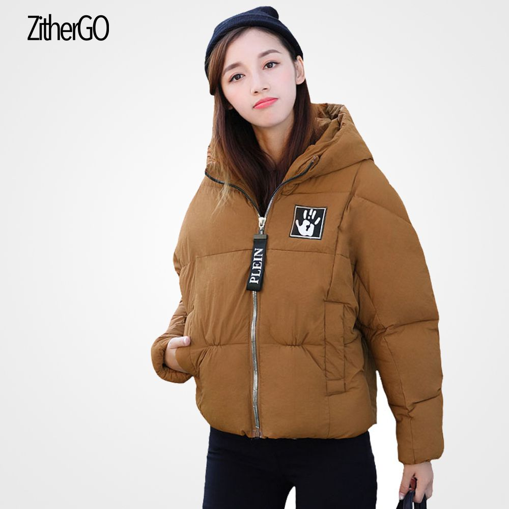 Winter Lady New Thick Jacket Pure Color Hooded Long Sleeve Short Coat With Hood High Quality Pocket Casual Woman Outfit In Parkas From Womens Clothing Accessories