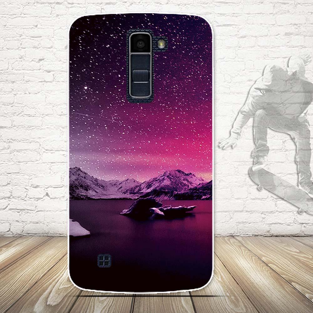 Luksusowe 3d farba miękka tpu powrót telefon pokrywa case do lg k10 lte k 10 m2 k410 k420n k430ds f670 podwójny case powrót silikon pokrywa torby 19