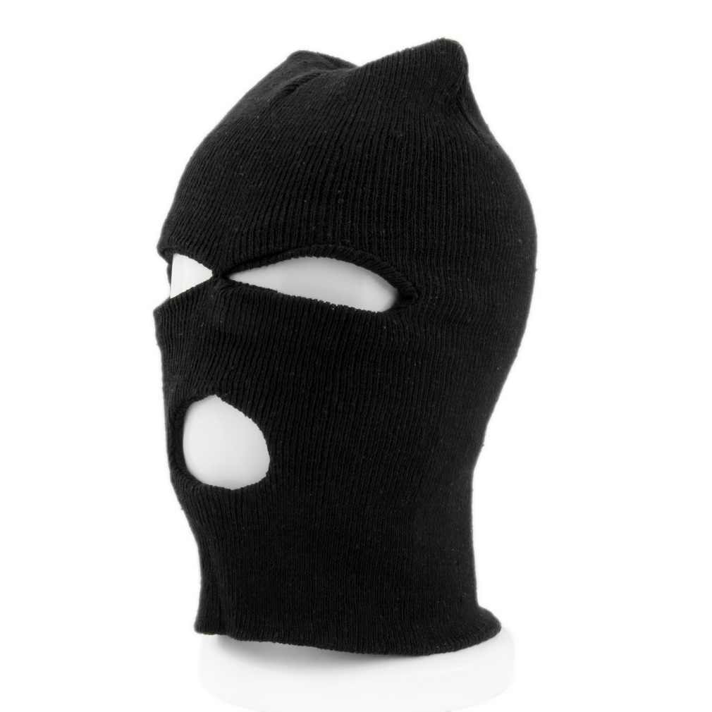 178b4cfcff0 ... Full Face Cover Ski Mask 3 Hole Balaclava Knit Hat Winter Stretch Snow  Mask Beanie Male ...