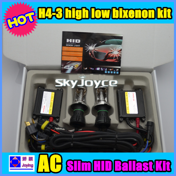 DHL ship 55W hid xenon kit H4 hid headlight H4 high low bixenon kit 4300K-8000K H4-3 hi lo HID KIT 12V/55W HID auto bulb xk dhc 2 a600 rc airplane spare part plastic parts