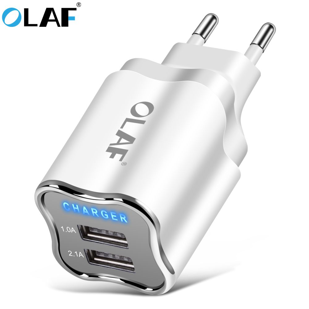 Olaf 2 USB charger 5V 2A Mobile Phone EU/US Plug Travel Wall Charger Adapter For iPhone iPad Samsung Xiaomi Tablet Phone Charger