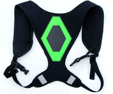 Reflective Safety Harness Vest with LED light+EL Reflective Running Safety Jacket Vest For Motorcycle Safety Harness sfvest reversible hi vis reflective waterproof safety vest with 3mreflective tapes oxford and polar fleece fabric
