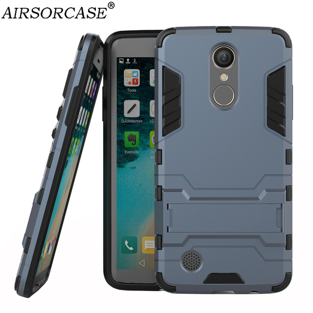 online retailer 3a859 ea440 For LG LV3 Cover K8 2017 5'' for LG Aristo MS210 Case Quality Hard PC & TPU  Hybrid Armor Back Cover Kickstand Mobile Phone Cases-in Fitted Cases from  ...