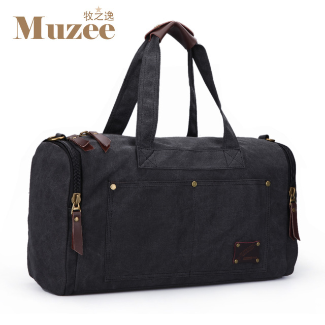 Muzee Travel Bag Large Capacity Men Hand Luggage Travel Duffle Bags Canvas Weekend Bags Multifunctional Travel Bags