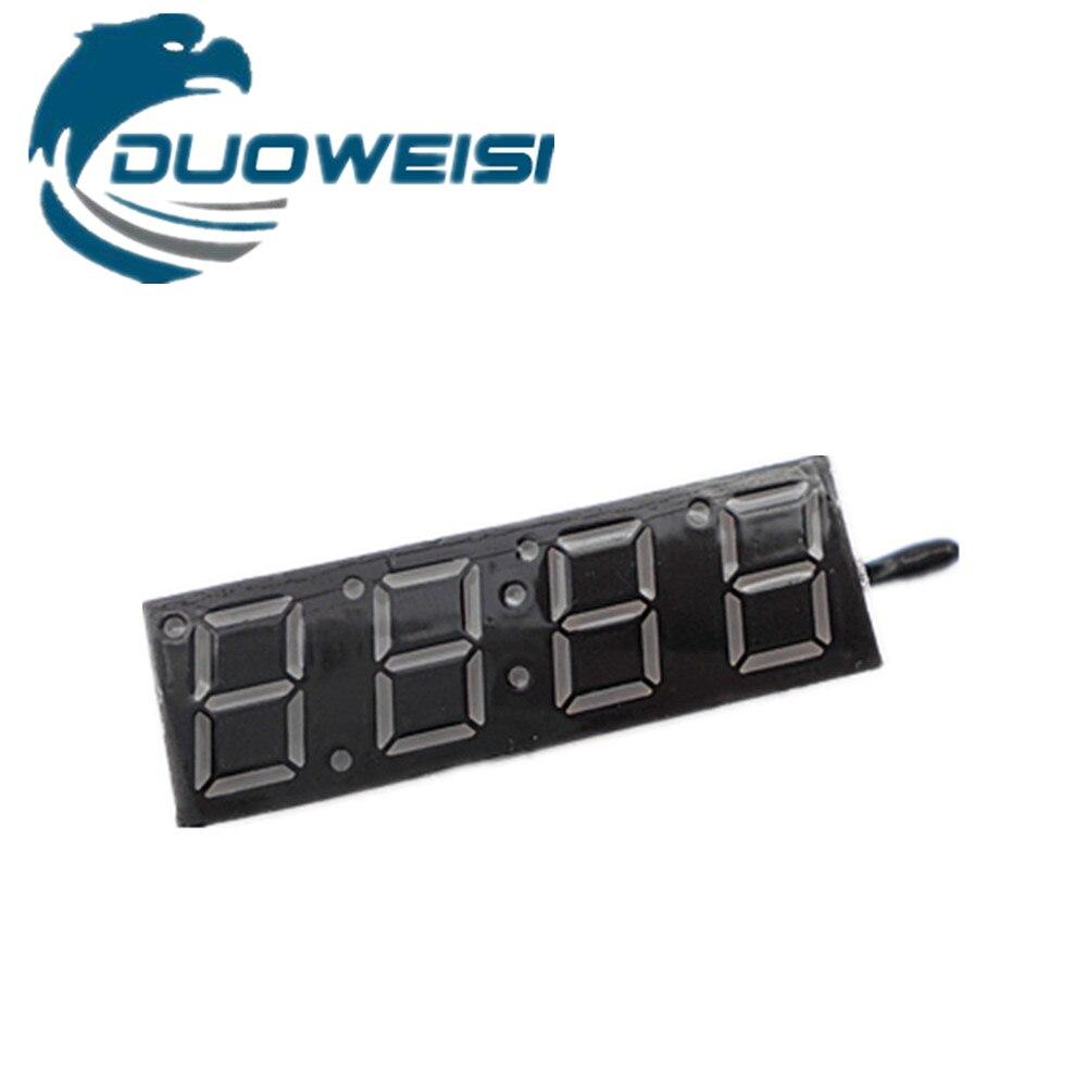 Цифровой трубки электронные часы микроконтроллер электронный счетчик [время + температура + напряжение] три-в-одном электронные часы