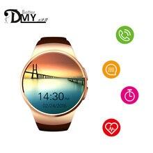 แฟชั่นสมาร์ทนาฬิกาKW18บลูทูธIPS S Mart W Atchอัตราการเต้นหัวใจธุรกิจนาฬิกาข้อมือสนับสนุนซิมการ์ดโทรสำหรับIOS A Ndroidหายไป