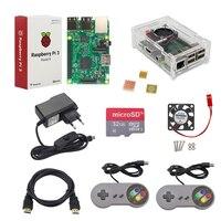 Raspberry Pi 3 Starter Kit Gamepad Case 16G 32G SD Card 2 5A Power Adapter Fan