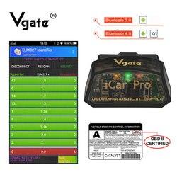 Vgate iCar Pro obdii elm 327 Bluetooth skaner OBD2 automatyczne narzędzie skanujące narzędzie diagnostyczne do samochodów ELM327 easydiag autotriz Code Reader