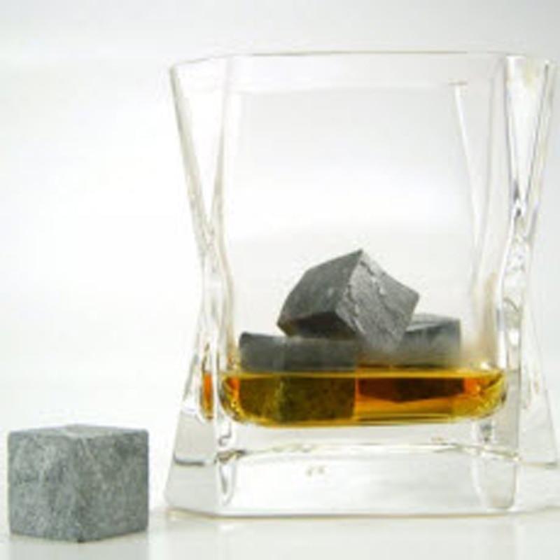 Whisky Stone 9pcs Set en bolsa de terciopelo, 4Colors 50sets / lot - Cocina, comedor y bar