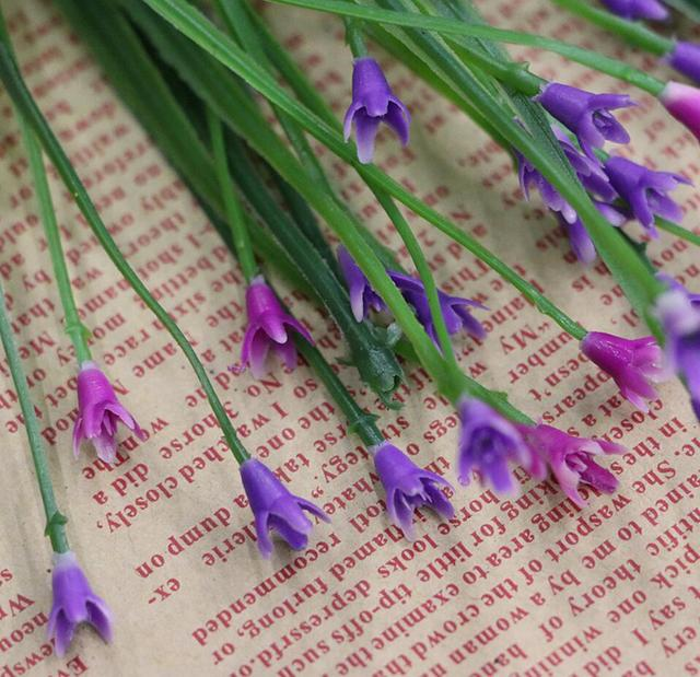 100pcs Plastic Artificial Ronde Flower Grass For Craft Flower ...