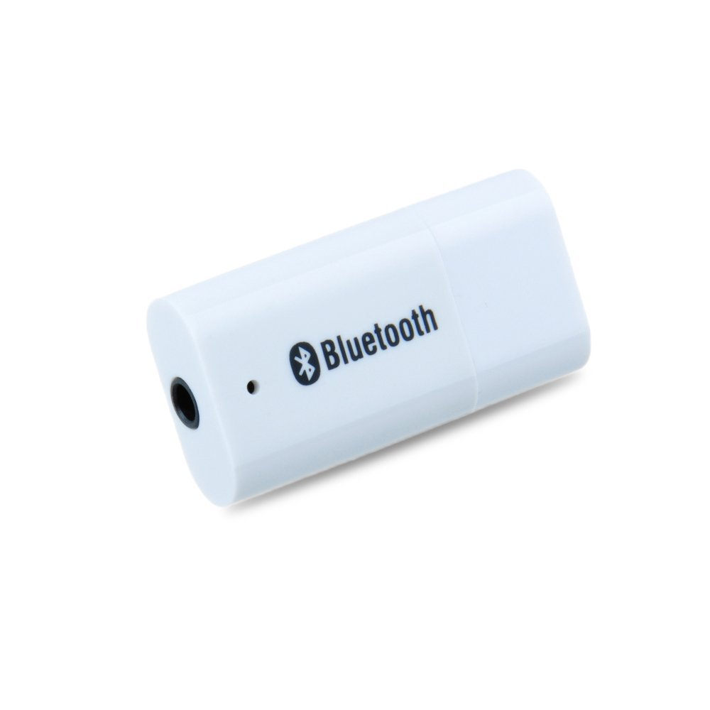 item Portable USB Bluetooth Audio Music Streaming Receiver Adapter with  mm Stereo Output White