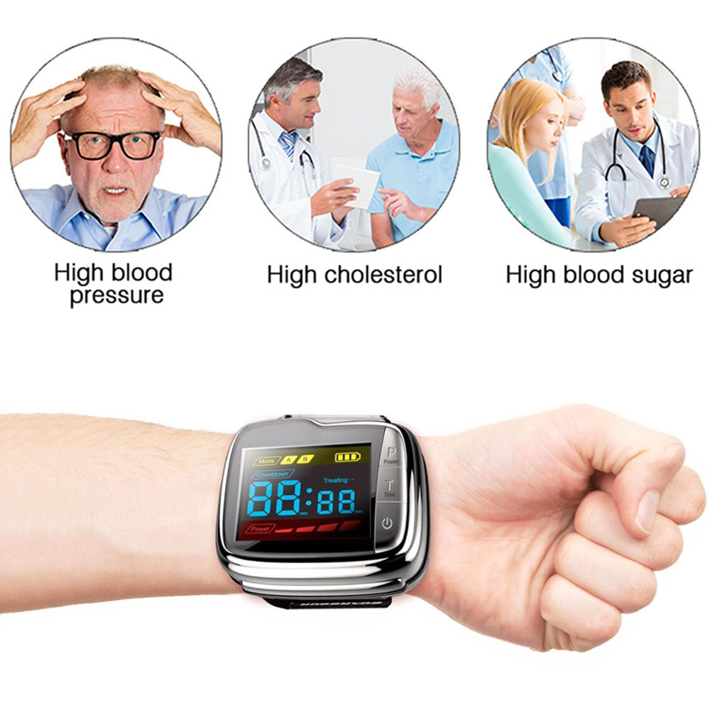 650nm Diode Low Level Laser Therapy Watch LLLT for Diabetes Rhinitis Cholesterol Hypertension Physiotherapy Treatment Healthcare in Massage Relaxation from Beauty Health