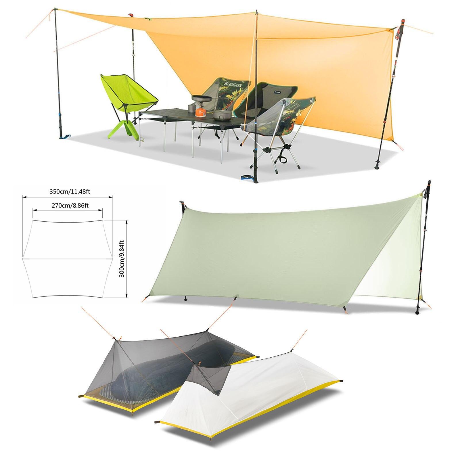 Revêtement en silicone Double face ultra-léger 450g 20D bâche en Nylon abri de soleil tente de plage Camping flyleaf Pergola auvent bâche