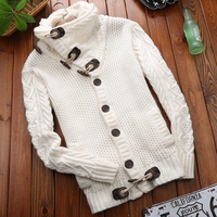 2018 Brand New Spring Winter Fashion Casual Cardigan Sweater Coat Men Slim Fit Warm Thick Knitting Clothes Male Sweater Jackets