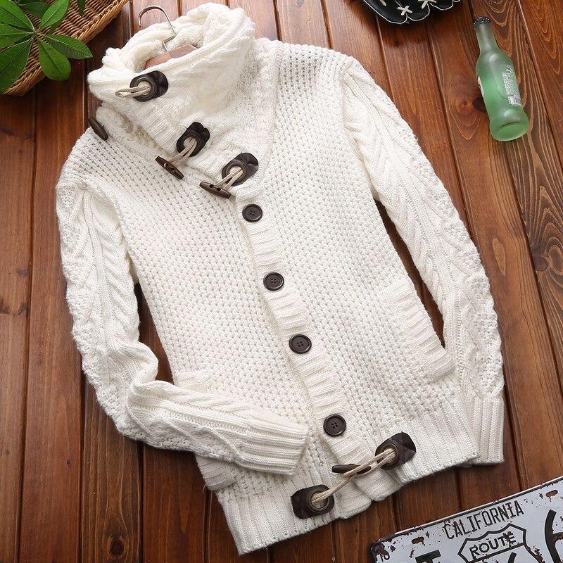 2018 nouveau printemps hiver mode décontracté Cardigan chandail manteau hommes Slim Fit chaud épais tricot vêtements hommes chandail vestes