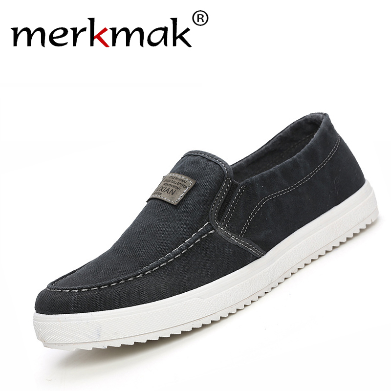 2017 Spring Autumn Men Casual Shoes Fashion Mens Male School Style Breathable Slip On Canvas