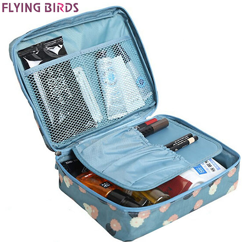 FLYING BIRDS Cosmetic case bag Multifunction wash bag Women Makeup portable Bag toiletry Storage waterproof Travel Bags LS8973fb msq make up bag pink and portable cosmetic bags for professional makeup artist toiletry case new arrival