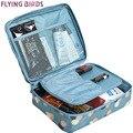 Flying birds caso cosméticos saco de lavagem multifunções saco mulheres maquiagem portátil saco de armazenamento de higiene pessoal sacos de viagem à prova d' água ls8973fb